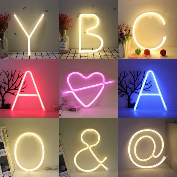 Neon Alphabet Lamps