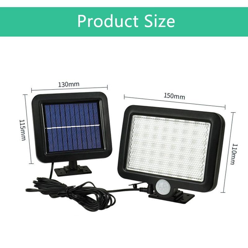 56 LED Outdoor Solar Wall Light PIR Motion Sensor Solar Lamp Waterproof Infrared Sensor Garden Light 1
