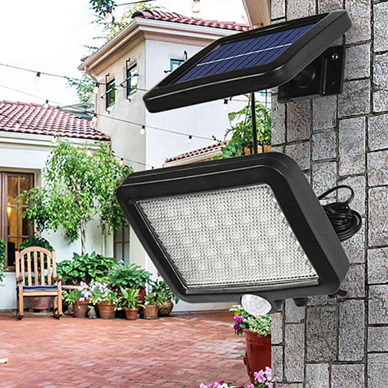 56 LED Outdoor Solar Wall Light PIR Motion Sensor Solar Lamp Waterproof Infrared Sensor Garden Light 4
