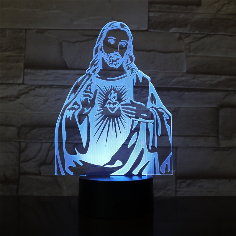 Jesus Bible 3D Lamp