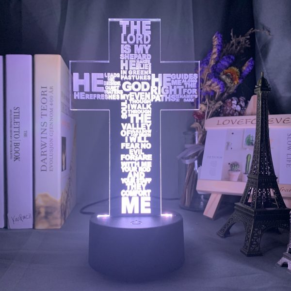CHRISTIAN CROSS 3D LAMP